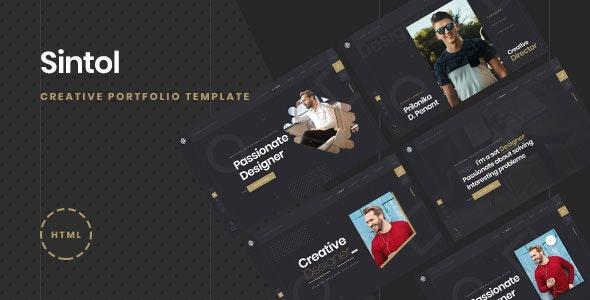 Sintol - Personal Portfolio HTML5/Bootstrap4 Template - Portfolio Creative