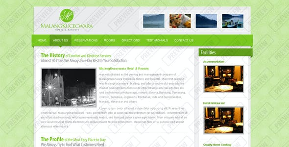 Malang Kucecwara, Hotel and Resort Template