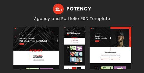 Potency - Creative Agency And Portfolio PSD Template - Portfolio Creative