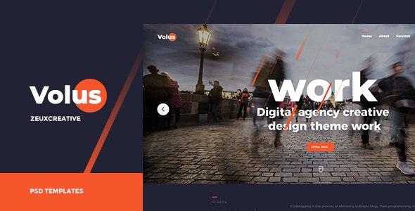 Volus - Onepage PSD Template - Portfolio Creative