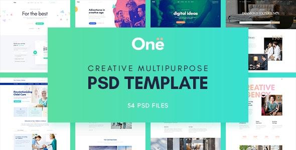 Onne - Creative & Clean Multipurpose Template - Photoshop UI Templates