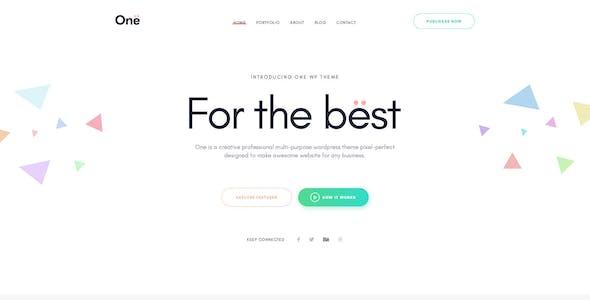 Onne - Creative & Clean Multipurpose Template