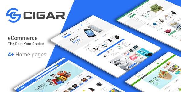Cigar - Electronics & Organic  Store HTML Template - Shopping Retail