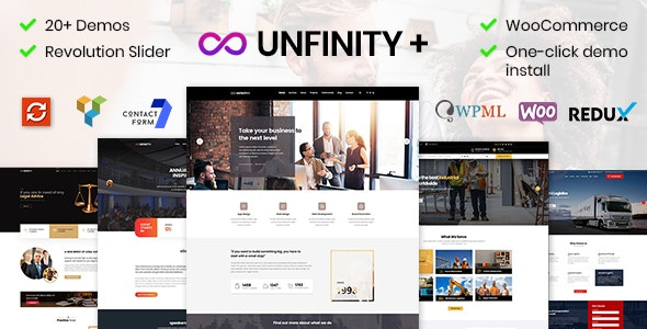 Unfinity - One page WordPress - Business Corporate