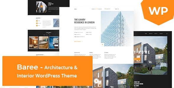 Baree - Architecture & Interior WordPress Theme - Portfolio Creative
