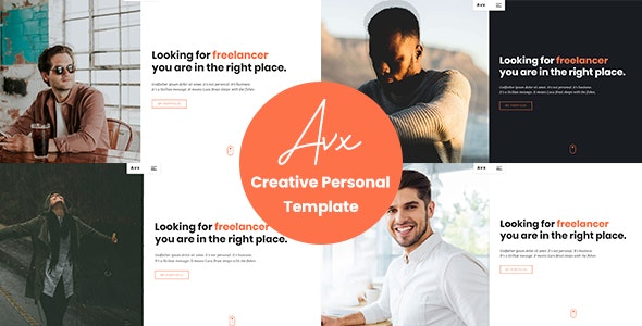 Avx - Creative Personal Template - Personal Site Templates