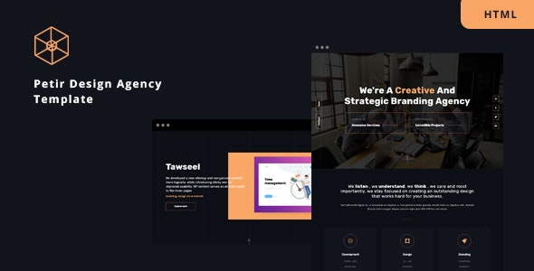Petir - Design Agency HTML Template - Creative Site Templates