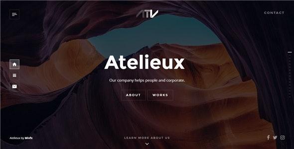 Atelieux - Fullscreen Portfolio Website Template - Portfolio Creative