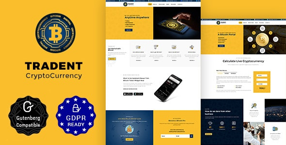 Tradent Cryptocurrency - Bitcoin, Cryptocurrency Theme - Technology WordPress