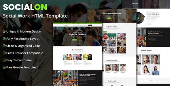 Socialon - Social Work Activity HTML Template - Activism Nonprofit