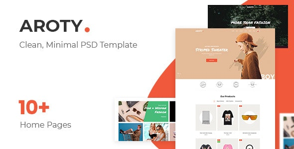 Aroty - Clean, Minimal Shop PSD Template - Fashion Retail