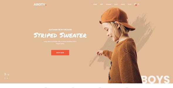 Aroty - Clean, Minimal Shop PSD Template