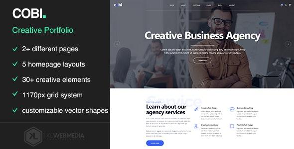 Cobi - Creative Portfolio HTML5 Template - Portfolio Creative