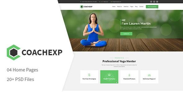Coachexp - Coach Yoga and Mentor PSD Template - Business Corporate