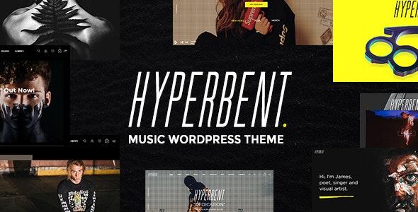 Hyperbent - A Modern Music WordPress Theme by Wolf-Themes