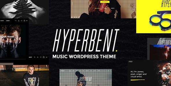 Hyperbent - A Modern Music WordPress Theme