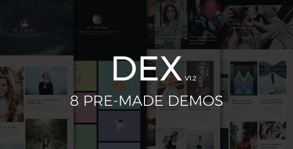 Dex - Modern Blog/Portfolio Blogger Theme - Blogger Blogging