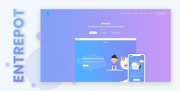 Entrepot - Membership Based Digital Product Selling Marketplace PSD Design