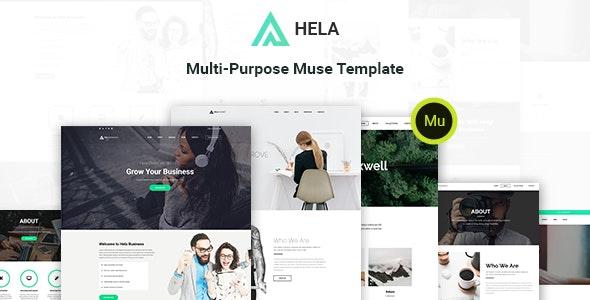 Hela - Multi-Purpose Muse Template - Muse Templates