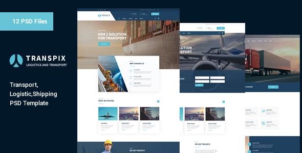 Transpix - Transport & Logistic PSD Template - Business Corporate