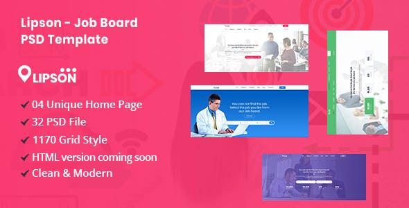 Lipson - Job Board PSD Template