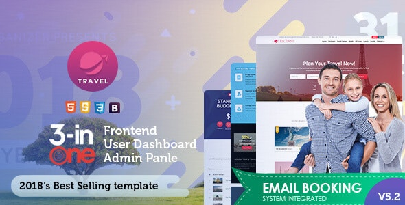 Tour & Travel Package Booking Template - Travel Retail