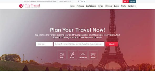 Hotel Booking HTML Travel Website Templates from ThemeForest