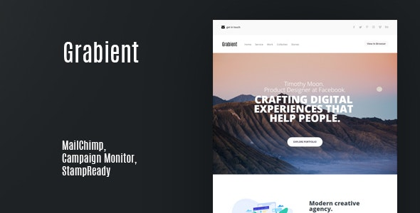 Grabient | Email Newsletter - Email Templates Marketing