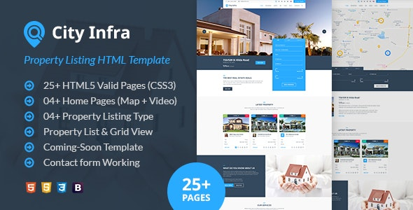 City Infra - Property Listing HTML Template - Business Corporate