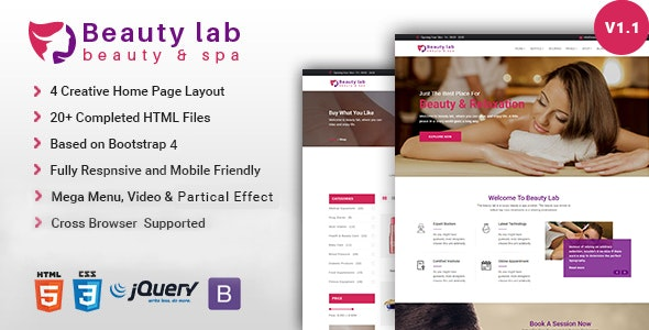 Beauty Lab | Spa Parlor HTML Template - Health & Beauty Retail