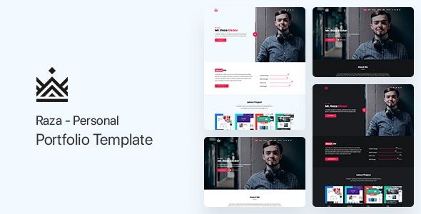 Raza - Personal Portfolio Template - Portfolio Creative