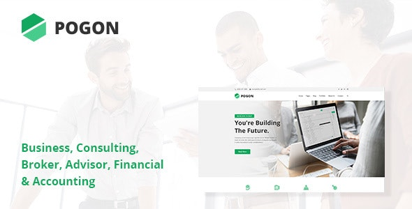 Pogon - Business and Finance Corporate PSD Template - Business Corporate