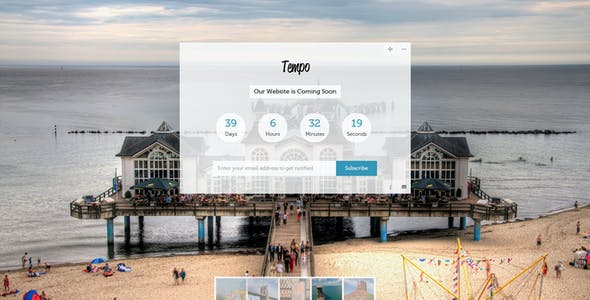 Tempo - Full Screen Coming Soon Template