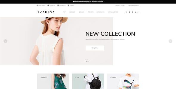 Tzarina - Responsive eCommerce PSD Template