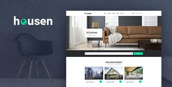 Housen - Real Estate PSD Template - PSD Templates