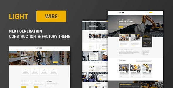 Lightwire - Construction And Industry Theme - Business Corporate