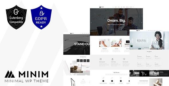 Minim - Minimal WordPress Portfolio by designthemes