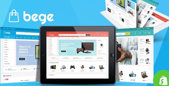 Bege - Electronics Shopify Theme