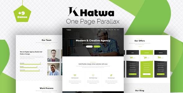 Khatwa - One Page Parallax - Portfolio Creative