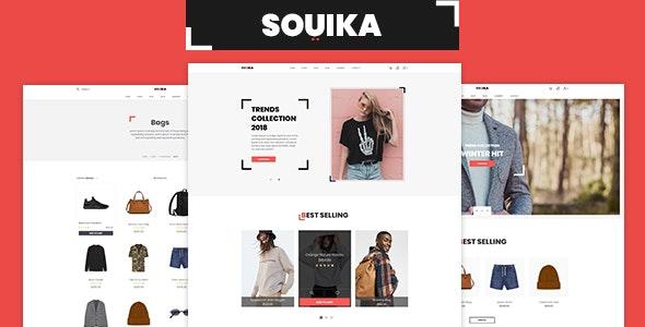 SOUIKA - Clothing and Fashion PSD Template - Fashion Retail
