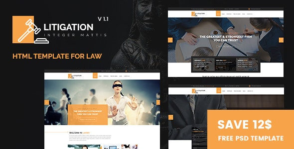 Litigation - Lawyers and Law Firm HTML Template - Business Corporate