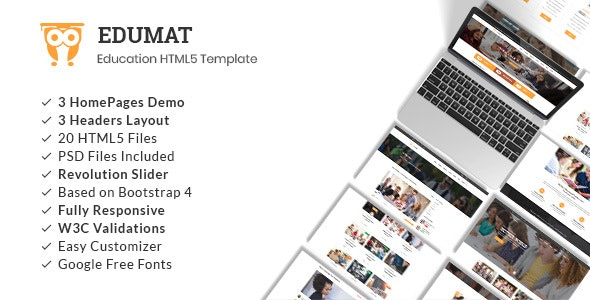Edumat | Education & Courses HTML5 Template - Business Corporate