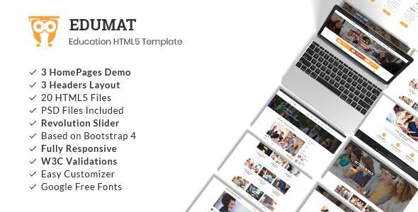 Edumat   Education & Courses HTML5 Template