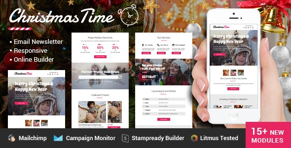 ChristmasTime Multipurpose Email Newsletter - Newsletters Email Templates