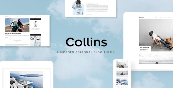 Collins - Minimalist & Personal Blog PSD Template - Photo Gallery Personal