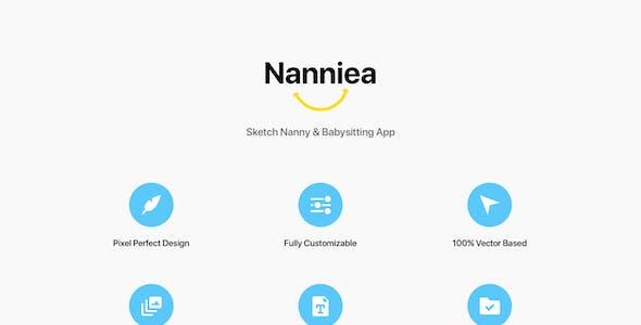 Nanniea - Sketch Nanny & Babysitting App