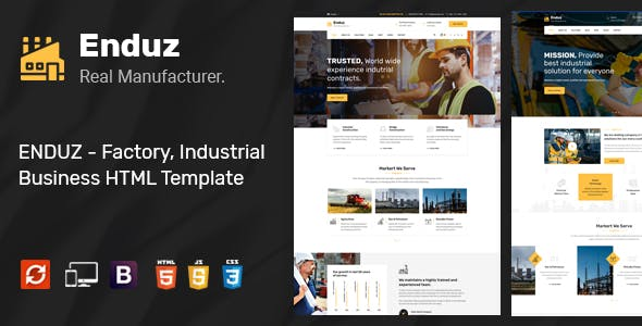 Enduz - Factory HTML Template