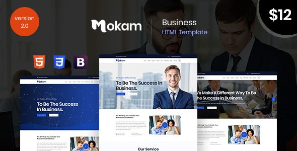 Mokam -Corporate Business and Agency Bootstrap 4 Template - Business Corporate