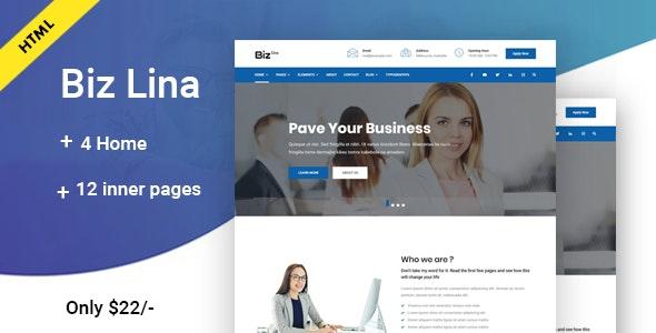 Biz Lina - Multi-Purpose Business Template - Business Corporate