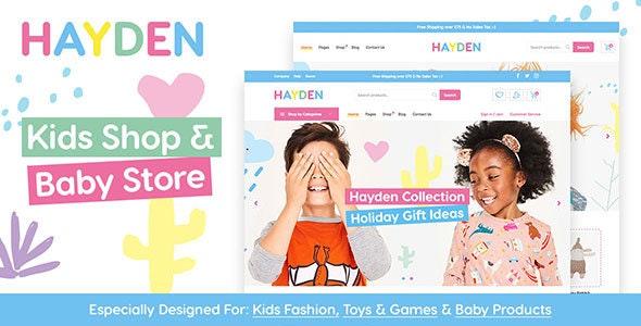 Hayden - Kids Store & Baby Shop - WooCommerce eCommerce